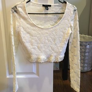 Forever 21 long sleeve lace crop top!